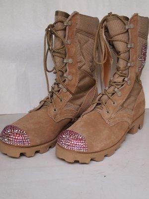 girls gone bad desert boots with swarovski and skull eu. Black Bedroom Furniture Sets. Home Design Ideas