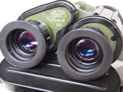 Carl Zeiss Jena binoculars 7x40 B GA military east german