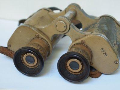 Wehrmacht dienstglas 6x30 fernglas 2.wk sandfarben afrikakorps