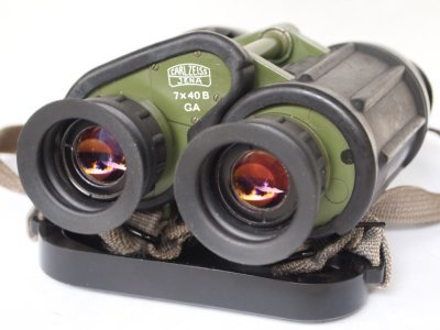 Carl Zeiss Jena Binoculars 7x40 B Ga East German Army